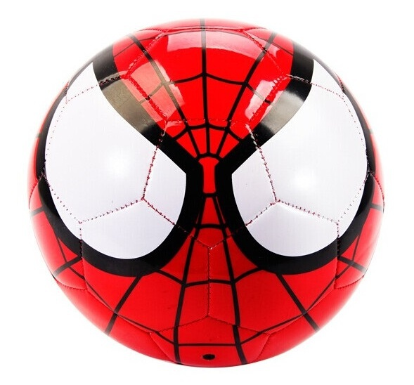 2015 NEW Size#5 kid soccer ball children's spider man design football ball boys Super Hero balls official size & weight, I017(China (Mainland))