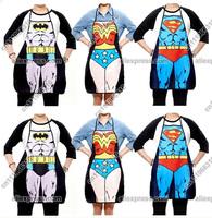 Novelty Naked Superman Wonder Woman Batman Men Restaurant Chef Kitchen Cooking Cook BBQ BIB Party Apron Dress Skirt Costume Gift