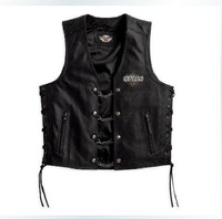 97116 Men's Vest XXL Genuine leather vest jacket Skull leather vest leather vest men's leather jacket