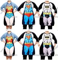 Sexy Funny Superman Wonder Woman Batman Men Restaurant Chef Kitchen Cooking Cook BBQ BIB Party Apron Dress Skirt Costume Gift