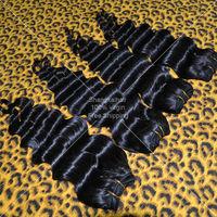 Rosa Hair Products 6pcs/lot Deep Wave Natural Black 100% Unprocessed Malaysian Virgin Hair 50G/Bundle Human Hair Free Shipping