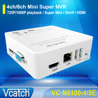 Vcatch Onvif 2.0 4ch/8ch Mini NVR 720P/1080P Network HD Video Recorder for IP Camera System Support 3G Wifi