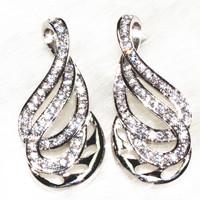 Twist line trend Drop earrings lady's gift women's fashion earring 94 stone grain ALW18104 Factory direct supply