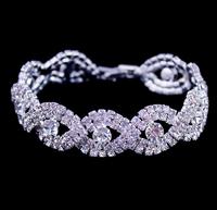 Hot Sale Fashion Jewelry,Rhinestone Silver Plated Hand Chain,Gorgeous Bracelet,European And American Hot ,Crystal Bracelet BG-47