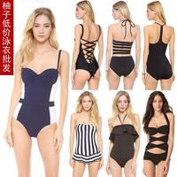 Free shipping 2014 steel push up sexy  bikini set  female hot swimsuit swimwear halter bikini strip swimsuit