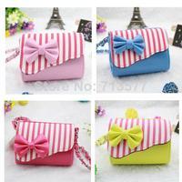 Fashion striped girls bags beautiful kids handbag Child messenger bags practical children's shoulder bag   1pc  BG030