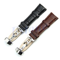 D19+Free Shipping New Design Durable 18mm-24mm Genuine Leather Deployant Bracelet Strap Watch Band