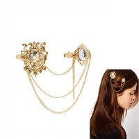 Free shipping! Casual ladies adorn hair jewelry, Trendy crystal decorative fashion hair accessories, Fashion jewelry