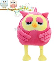 Baby owl design backpacks beautiful boy and girls school bag children's soft straps pretty kids shoulder bag   1pc  BG048