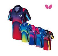 New 2014 Free shipping men shirt  Butterfly shirt Man's Badminton shirt /table tennis T-shirt 5 color shirt