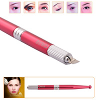 2014 New Arrival 2pcs/lot L13 Professional Handmade Permanent Makeup Tattoo Manual Pen Machine for Eyebrow Free Shipping