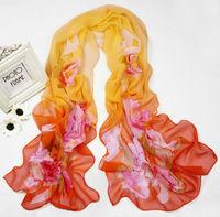 Women's Fashion Long Soft Wrap Lady Shawl Silk  Chiffon Scarf Super Pretty sf1036