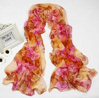 Lady Women's Georgette Long Wrap Shawl Beach 100% polyester silk feeling Scarf  sf1037
