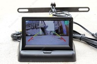 "Free shipping!170 degree Anti-shock Rear View Reversing Back Car Camera + 2ch 4.3"" Foldable Monitor"