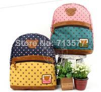 Pretty baby dot pattern backpacks beautiful girls and boys school bag fashion kids shoulder bag 1pc  BG040