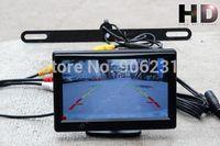 "Free shipping!Rear View Reversing Back Car Camera + 5"" HD 800*480 no 320*240 pixels Monitor"