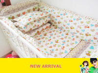 With Filler baby crib bedding set bedding bumper Crib baby bedding kit 100% cotton bed baby set cot nursery bedding kit