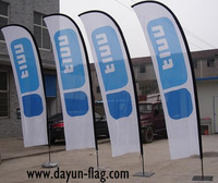 Customized Beach Flag (BF04) 3.4 Meters Height Blade Shape
