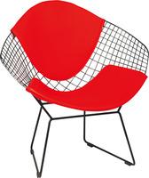 1 piece powder coated steel with PU cushion diamond chair