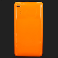 Free Shipping! Orange 5000mAh Mobile Phone Rechargeable Charger External Power Supply Bank Battery For iPhone/iPad/HTC/Samsung