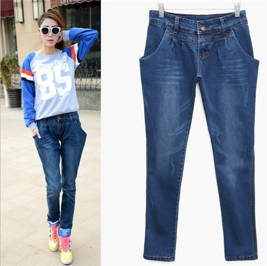 Woman Pencil Jeans Denim Slim Figure Ladies'Sexy Casual Jeans Plus ...