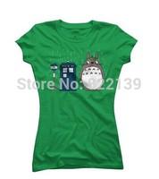 Father's Day Custom Women's T shirts -Totoro Women's T Shirt Doctor Who Cartoon Design Your own Printing shirts .diy shirts