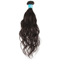 100%  Hair Weaving Hair Extension Weft Natural Black Hair Color Natural Wave Hair Style 100g/piece 8''-24'