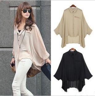plus size mm irregular das mulheres manga batwing clarividente roupa muito protetor solar- camisa de manga(China (Mainland))