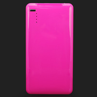 5000mAh Hot Pink Mobile Phone Rechargeable Charger External Power Supply Bank Battery For iPhone/iPad/HTC/Samsung, Free Shipping