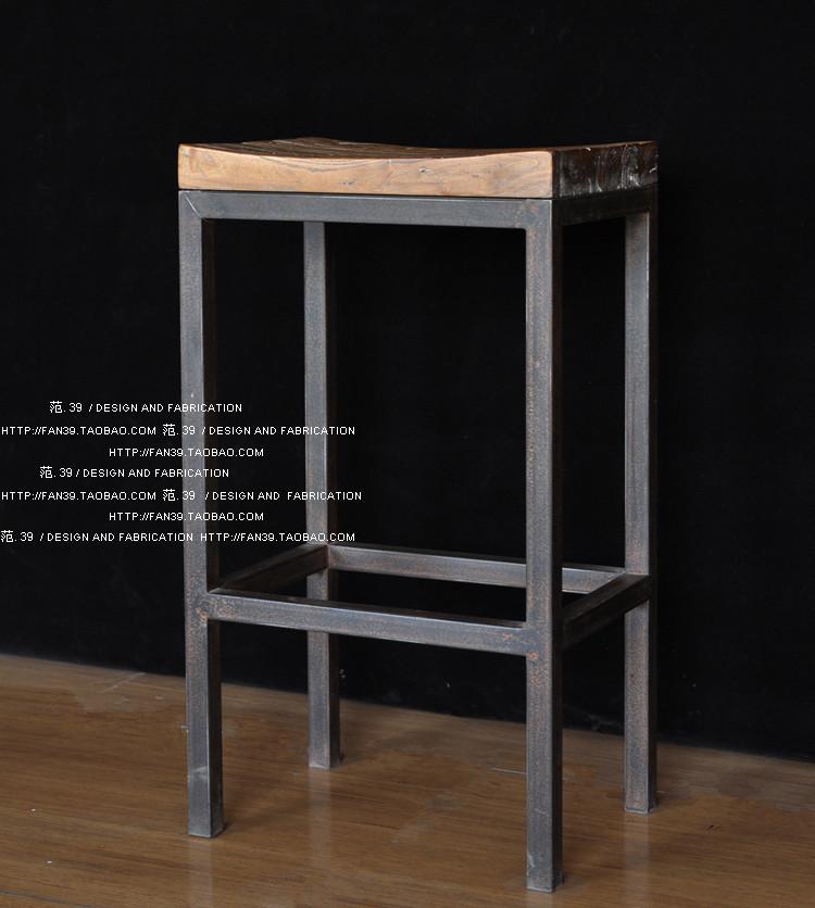 ferro americano front office fezes barra tamborete barra quadrada de madeira fezes fezes cadeira pode ser personalizado(China (Mainland))