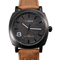 2014 CURREN brand watch Japan movement analog genuine leather watch men calendar date dress wristwatch 30m waterproof