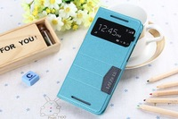 Original luxury Filp back wallet Intelligent sleep window leather cover case for HTC M8 phone case O267