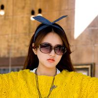 2014 vintage star big box black girl sunglasses women's sunglasses fashion lady sunglasses