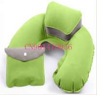 Comfortable inflatable flock printing picture pillow comfortable travel neck pillows portbale for camping  5 pcs