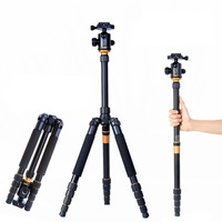 New QZSD Q-666 SLR Camera Portable Magnesium Aluminium Tripod Monopod & Ball Head Pocket