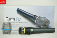 Free-Shipping! Beta87A  Vocal Wired Microphone Beta 87A 87 A With Bright Clear Sound!