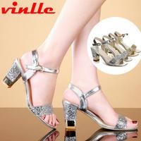 VINLLE 2014 New Sexy Womens sandals Shoes High Heels Peep toe women pumps Wedding Shoes size 34-39