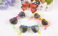 New Arrival children cartoon baby Sungalasses Wholesale 12pcs/pack  Apple heart-shaped sunglasses flip sunglasses Random colors!