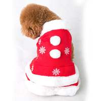 New Design Christmas Dog Clothing Dress Winter Warm Cute Snow Pet Clothes for Small Medium Dog Cat Chihuahua Yorkshire Poodle