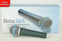 Free Shipping ! 2pcs /lot Beta58A  Dynamic Vocal Wired Microphone Beta 58A 58 A Mike With Bright Clear Sound !