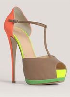 New Fashion Brand Women Pumps Sexy High Heels 100% Genuine Leather Shoes Woman Dress Shoes Designer Platform Summer Sandals