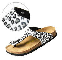 women's beach shoe summer sandals leisure shoes leopard slipper