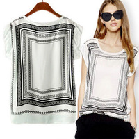 New Arrive 2014 TOP Fashion Summer Women Blouse,Blusas Femininas Chiffon Tops Clothing Ladies O-neck Slim Blouse Shirts