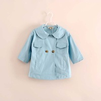 2014 autumn hot sale baby girl lovely cute cotton coats outerwear jackets 3 color