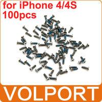 100pcs 100% Original Brand New Replacement Parts 5 Point Star Pentalobe Bottom Dock Screws for iPhone 4 4S 4G iPhone4S