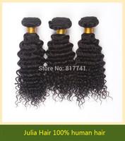 Aliexpress 6A 100% human hair extension Deep Curly Unprocessed Julia queen hair 3pcs Lot Brazilian Virgin Hair full bundle