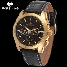 FORSINING FSG6625M3G1 2014 new Automatic fashion dress Men watch tourbillon gold wristwatch for men best gift