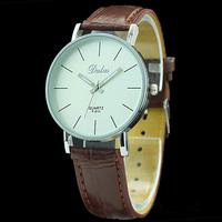 100PCs/Lot Quartz Leather Wrist Bracelet Fashion Women Watch Ladies Wristwatch Brown Color