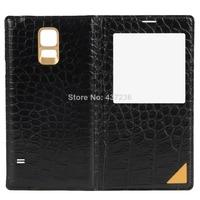 YY Crocodile Grain PU Leather Wallet Cover Case for Samsung Galaxy S5 I9600 CN017 P