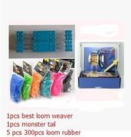 Hotsale new 2014 Loom kit loom Monster tail Loom weaver +5bag 300pcs rubber Knitting machine free shipping
